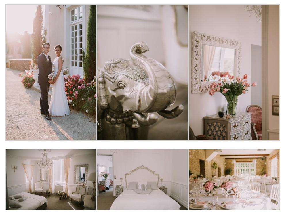 château de la Vaudère Le Mans à Parigné l'Évêque, chambre des mariés, décoration, statue d'éléphant